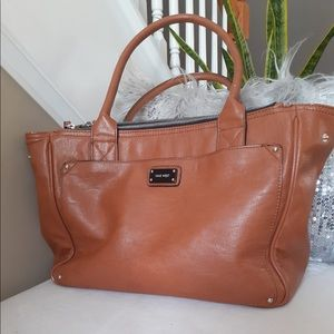 Nine West brown bag with compartment